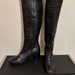EU 40 Varse knee-high leather black boots